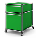 USM Haller Mobile Pedestal with Hanging File Basket, No locks, USM green