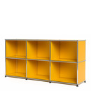 USM Haller Sideboard 50, Customisable, Golden yellow RAL 1004, Open, Open