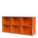 USM Haller Sideboard 50, Customisable, Pure orange RAL 2004, Open, Open