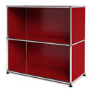 USM Haller Sideboard M, Customisable, USM ruby red, Open, Open
