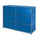 USM Haller Counter Type 1, Gentian blue RAL 5010, 150 cm (2 elements), 50 cm