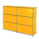 USM Haller Counter Type 1, Golden yellow RAL 1004, 150 cm (2 elements), 35 cm