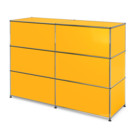 USM Haller Counter Type 1, Golden yellow RAL 1004, 150 cm (2 elements), 50 cm