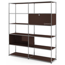 USM Haller Living Room Shelf L, USM brown