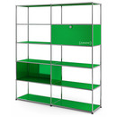 USM Haller Living Room Shelf L, USM green