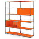 USM Haller Living Room Shelf L, Pure orange RAL 2004