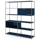 USM Haller Living Room Shelf L, Steel blue RAL 5011