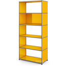 USM Haller Living Room Shelf M, 1 back panel, Golden yellow RAL 1004