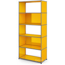 USM Haller Living Room Shelf M, 2 back panels, Golden yellow RAL 1004
