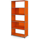 USM Haller Living Room Shelf M, 2 back panels, Pure orange RAL 2004