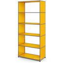 USM Haller Living Room Shelf M, without back panel, Golden yellow RAL 1004