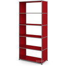 USM Haller Living Room Shelf M, without back panel, USM ruby red