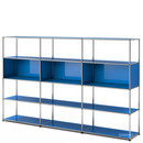 USM Haller Living Room Shelf XL, Gentian blue RAL 5010