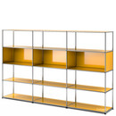 USM Haller Living Room Shelf XL, Golden yellow RAL 1004