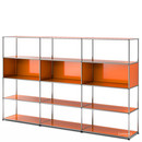 USM Haller Living Room Shelf XL, Pure orange RAL 2004