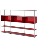 USM Haller Living Room Shelf XL, USM ruby red