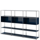 USM Haller Living Room Shelf XL, Steel blue RAL 5011