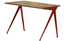 Compas Direction, American walnut solid, oiled, Japanese red