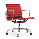 Aluminium Group EA 117, Chrome-plated, Leather, Red