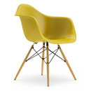Eames Plastic Armchair DAW, Mustard, Without upholstery, Without upholstery, Standard version - new (43 cm), Ash honey tone