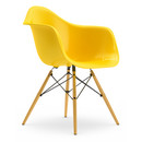 Eames Plastic Armchair DAW, Sunlight, Without upholstery, Without upholstery, Standard version - 43 cm, Yellowish maple