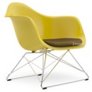 LAR, Mustard, Seat upholstery mustard /dark grey, Chrome-plated