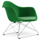 LAR, Green, Seat upholstery green / ivory, Chrome-plated