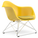 LAR, Sunlight, Seat upholstery yellow / ivory, Chrome-plated