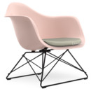 LAR, Pale rose, Seat upholstery warm grey / ivory, Coated basic dark