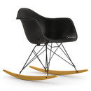 Eames Plastic Armchair RAR, Basic dark, Coated basic dark, Yellowish maple