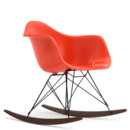 Eames Plastic Armchair RAR, Red - poppy red (new height), Coated basic dark, Dark maple