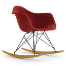 Eames Plastic Armchair RAR, Oxide red, Coated basic dark, Yellowish maple