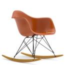 Eames Plastic Armchair RAR, Rusty orange (new height), Coated basic dark, Yellowish maple