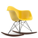 Eames Plastic Armchair RAR, Sunlight (new height), Coated basic dark, Dark maple