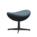 Fritz Hansen - Egg Footstool, Re-wool, 768 - Natural / light blue, Black