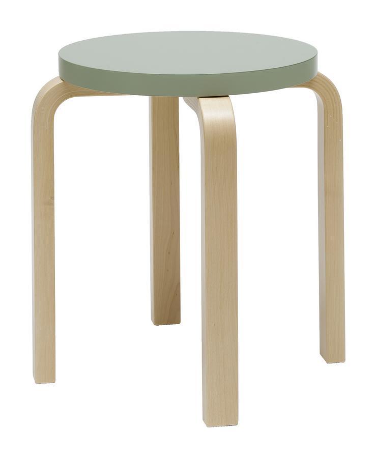 Hay Hocker artek stool e60 seat and legs black varnished by alvar aalto 1933