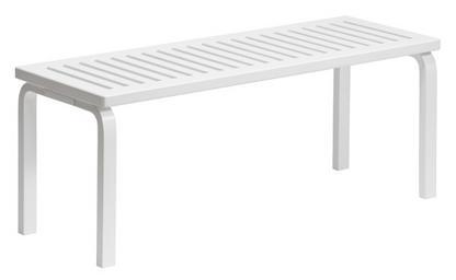 Bench 153 White Varnish|Width 1125 Mm