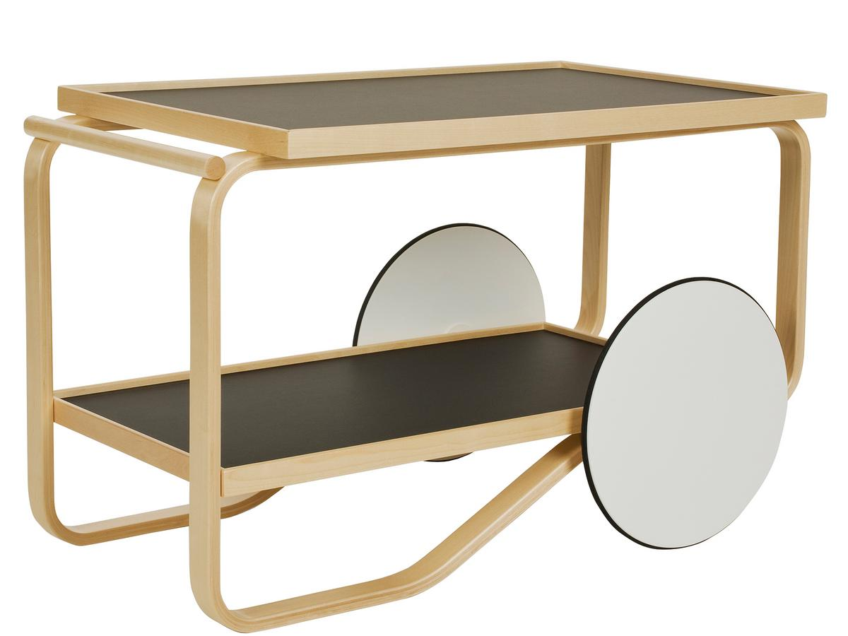 artek serving trolley 901 by alvar aalto 1936 designer. Black Bedroom Furniture Sets. Home Design Ideas