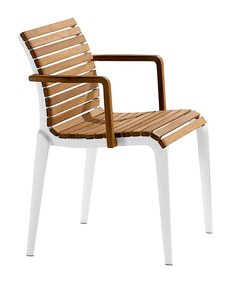 Teak Chair Outdoor by Alberto Meda Designer furniture by smow