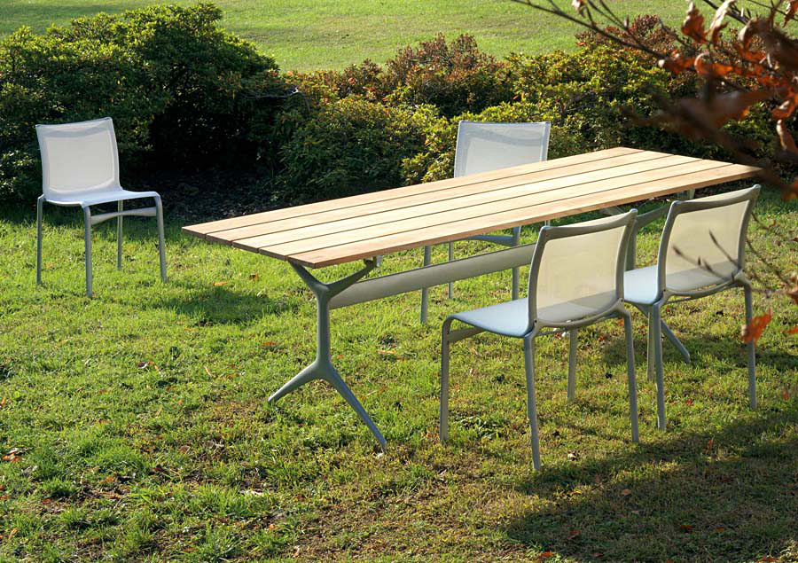Alias Teak Table Outdoor by Alberto Meda  Designer