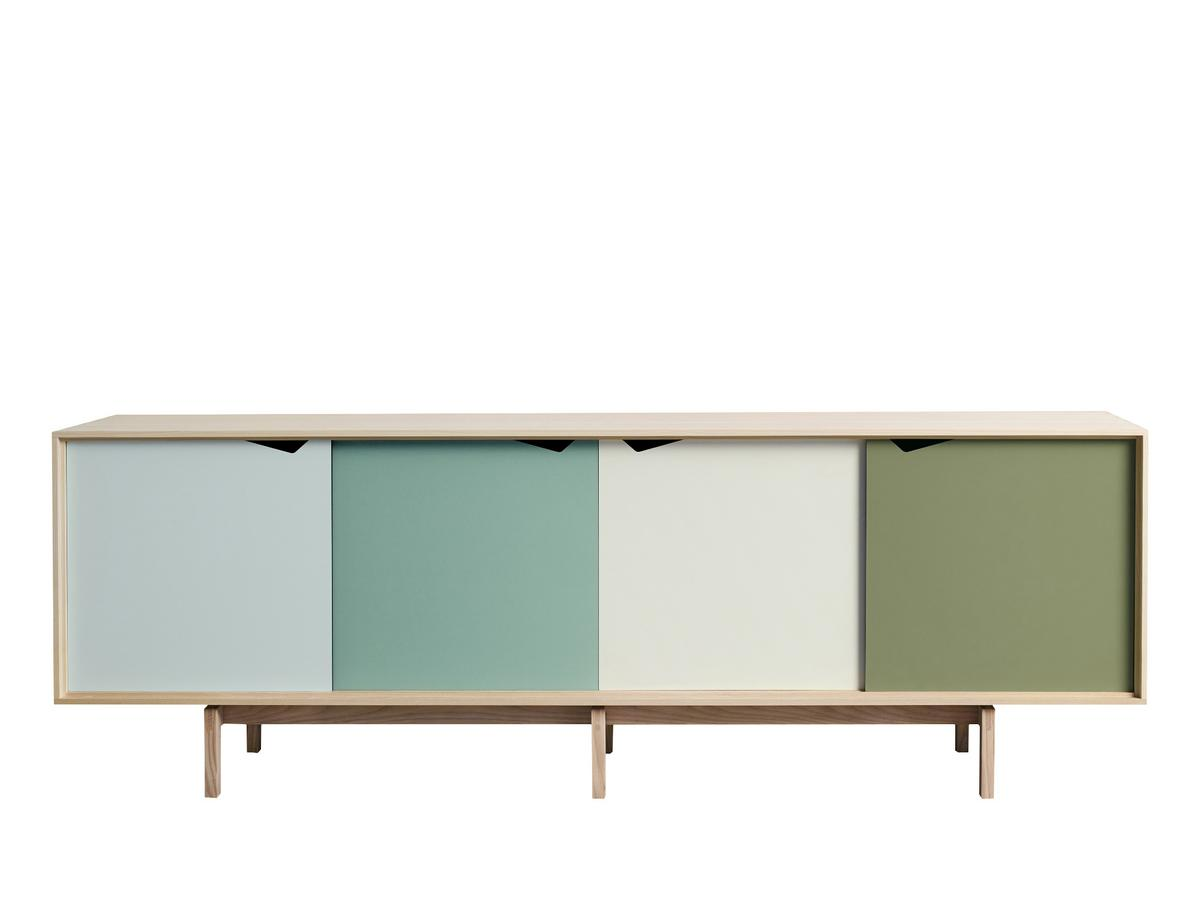 andersen s1 sideboard soaped oak blue green by bykato 2011 designer furniture by. Black Bedroom Furniture Sets. Home Design Ideas