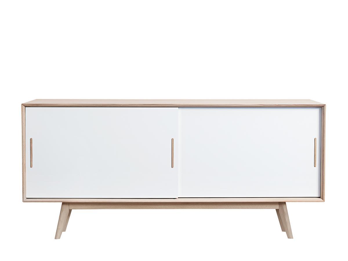 Andersen S4 Sideboard Doors White Legs Solid Wood