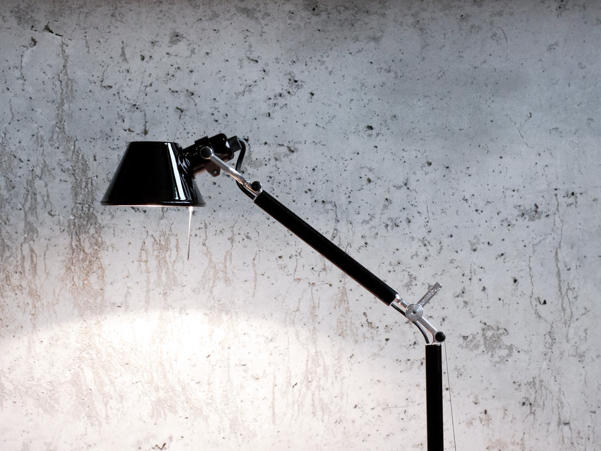 Artemide Tolomeo Tavolo Micro Glossy Black By Michele De Lucchi Giancarlo Fassina 1987 Designer Furniture By Smow Com