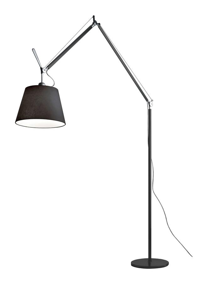 artemide tolomeo mega terra led fabric black 36 cm by michele de lucchi giancarlo fassina. Black Bedroom Furniture Sets. Home Design Ideas