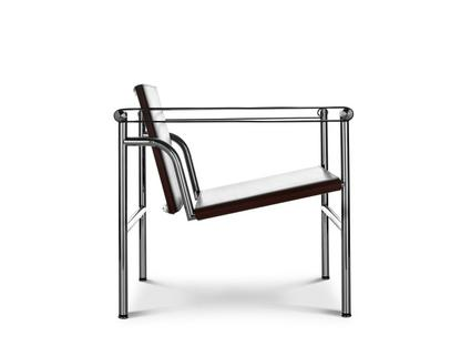 LC1 Chrome-plated|Butt leather, black