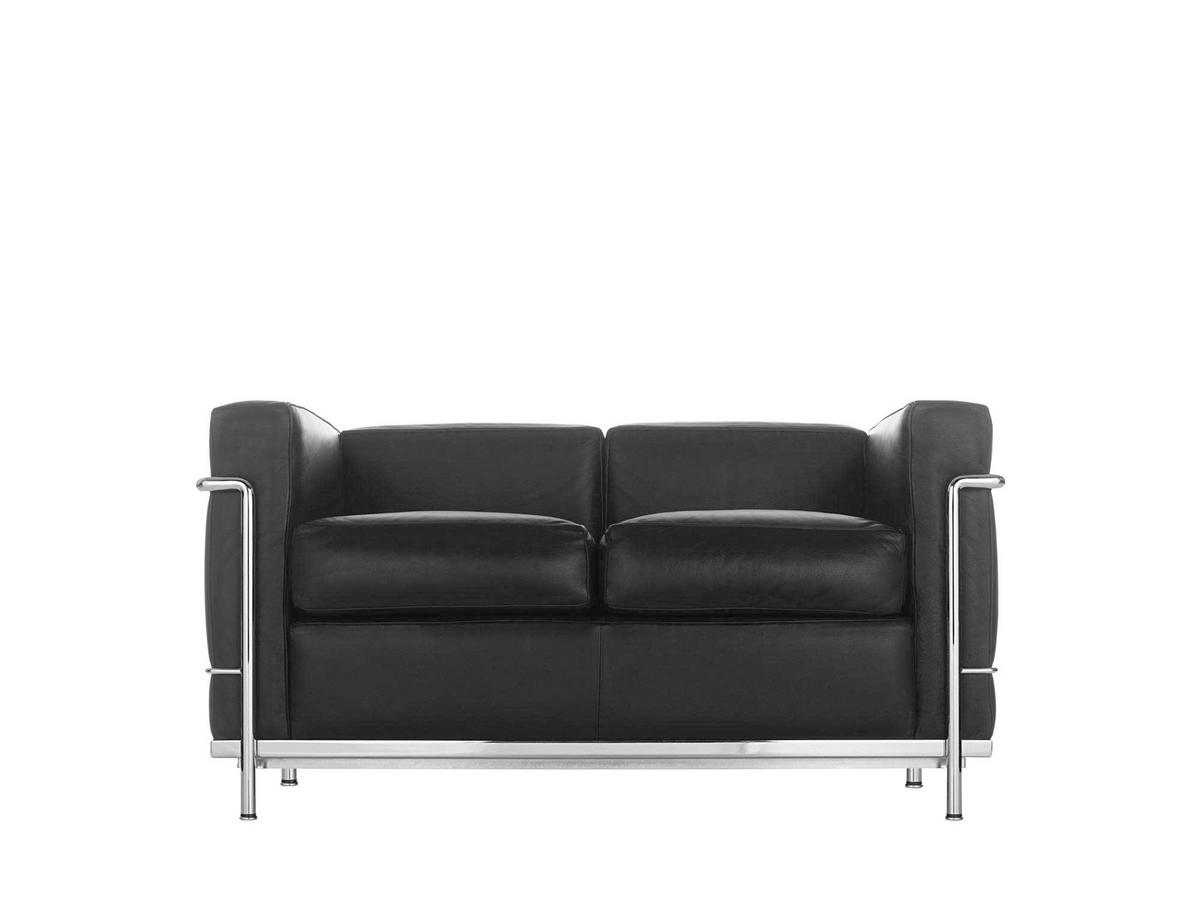 Cassina lc2 sofa by le corbusier pierre jeanneret for Sofa 2 sitzer