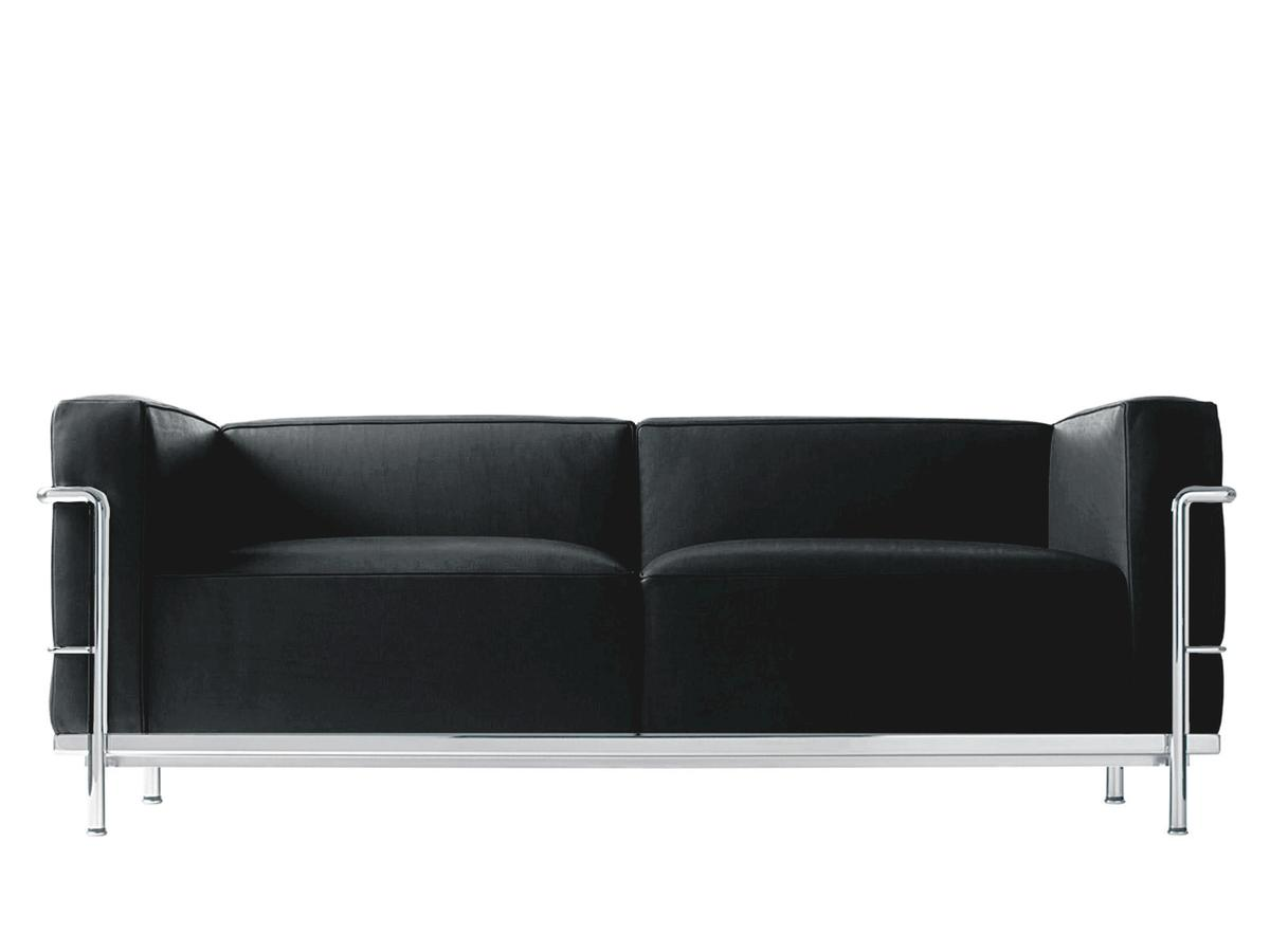 cassina lc3 sofa by le corbusier pierre jeanneret. Black Bedroom Furniture Sets. Home Design Ideas