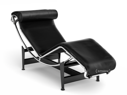 LC4 Chaise Longue Chrome-plated|Leather Scozia black