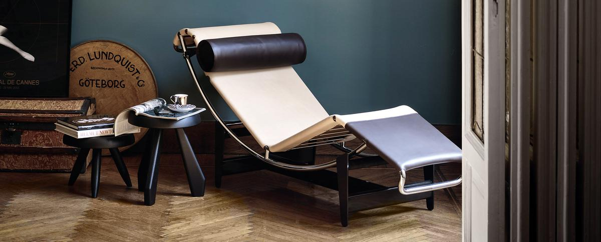 lc4 cp chaiselongue limited edition by le corbusier pierre jeanneret charlotte perriand 1928. Black Bedroom Furniture Sets. Home Design Ideas