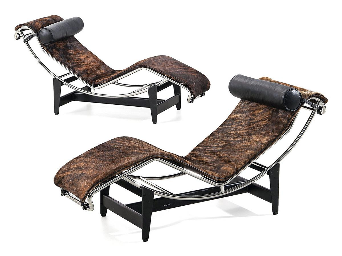 Cassina lc4 chaise longue pampas edition by le corbusier for Chaise longue lc4